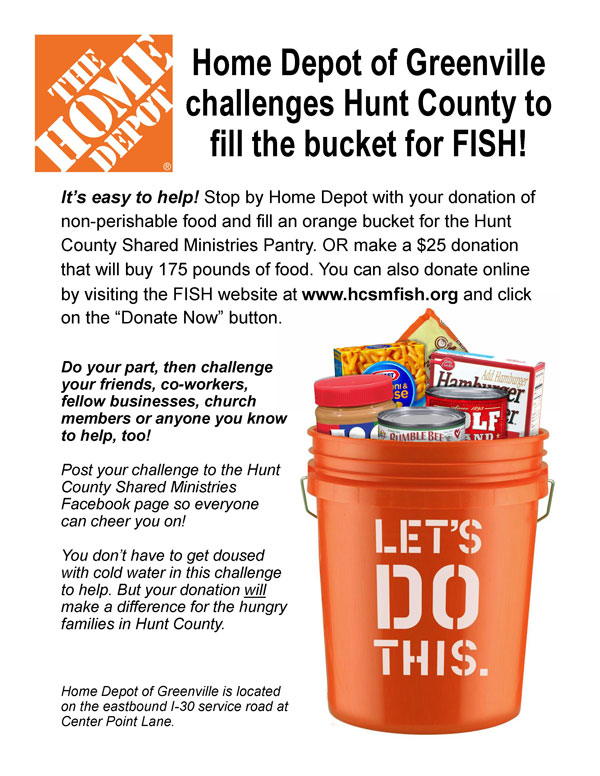 Home Depot Orange Bucket Challenge